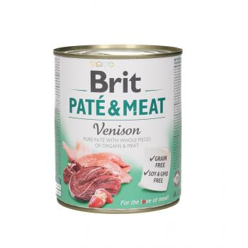 BRIT CARE PUSZKA 800G PIES PATE&MEAT VENISON