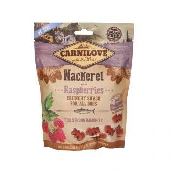 CARNILOVE PRZYSMAK DLA PSA CRUNCHY SNACK MACKREL WITH RASPBERRIES WITH FRESH MEAT 200G