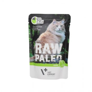 4T RAW PALEO CAT ADULT GAME MEAT 100G SASZETKA