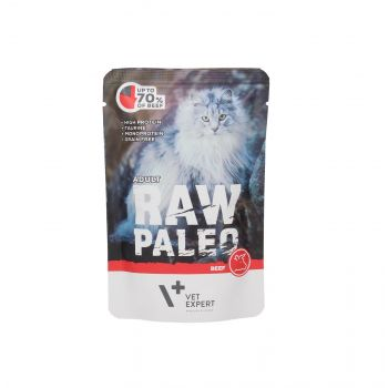 4T RAW PALEO CAT ADULT BEEF MEAT 100G SASZETKA