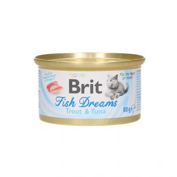 BRIT CAT FISH DREAMS TROUT & TUNA 80G