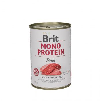 BRIT CARE PUSZKA 400G PIES MONO PROTEIN BEEF
