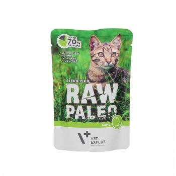 4T RAW PALEO CAT STERILISED GAME MEAT 100G SASZETKA