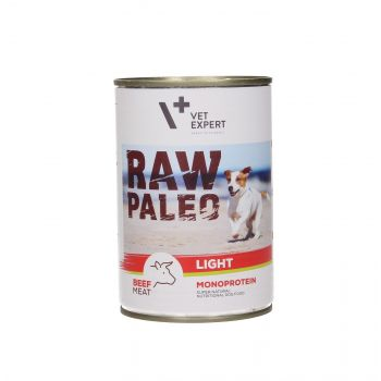 4T RAW PALEO DOG LIGHT BEEF MEAT 400G