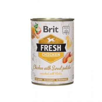 BRIT FRESH PUSZKA 400G CHICKEN&SWEET POTATO