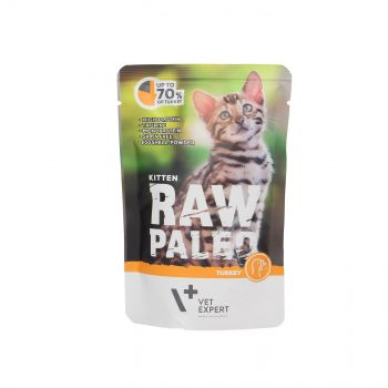 4T RAW PALEO CAT KITTEN TURKEY MEAT 100G SASZETKA